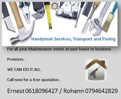 Proffesional and Affordable Handyman, transport and paving Services