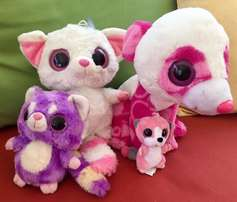 4 Adorable Colourful Big-Eyed Soft Toy Friends!