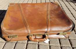 Brown Leather Suitcase H 539