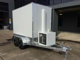 Fully galvanized refrigerated trailers.