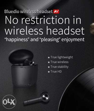 Bluedio HI wireless earphone bluetooth with charging box built-in mic الرياض -  7