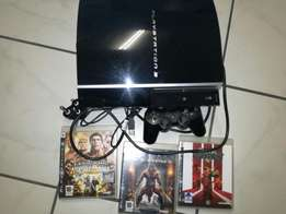 PS3 with controller n 3 games