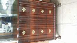 Chest of drawers imbuia ball and claw