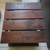 Two Hardwood Bedside Pedastals Coffee Colour