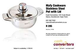 Mafy Cookware Stainless Steel Pot with Lid