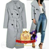 Waterfall Drape Gold Button Detailed Trench Coats From U.K