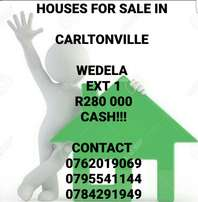 Wedela ext 1 houses for sale