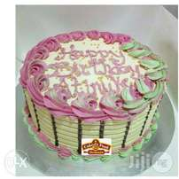 Butter Icing Birthday Cake