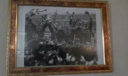 Very old black and white liverpool signed photo