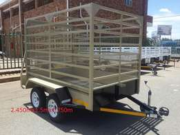 New small cattle trailer for sale.