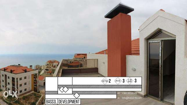 A LUXURIOUS DUPLEX with a Seaview Terrace in Halat!