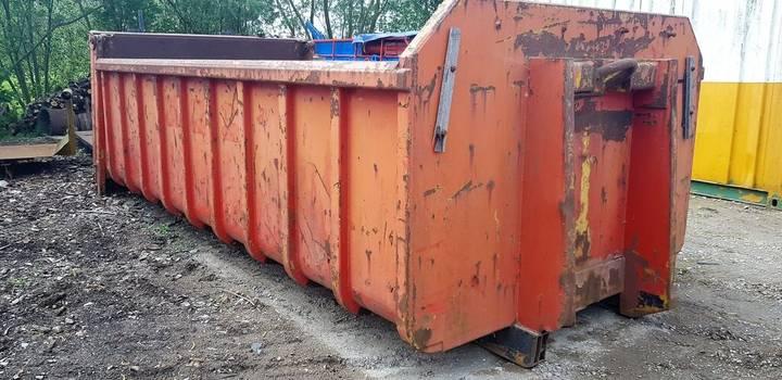 Haakarm container met klep tipper body