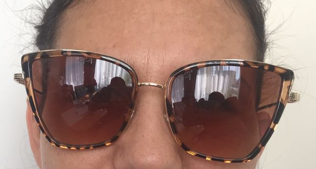 """Okulary przeciwsłoneczne """"koty"""" motyw pantera modne sunglass"""