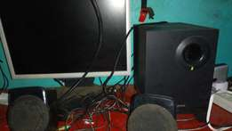 17 lcd pc monitor and creative speakers