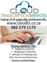 For professional transcribing of all audio files