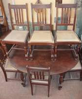 Teak Oval Dining Table and 6 Teak Chairs - R6,900.00