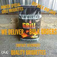 High Quality Grill Briquettes 4kg bag , Wholesale orders Welcome!!!