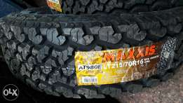 215/70R16 brand new Maxxis tyres tubeles.