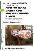 Dairy cow multi- nutrition block making manual
