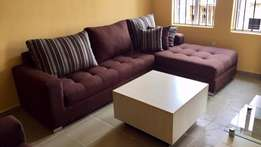 Brown 5 seater sectional sofa