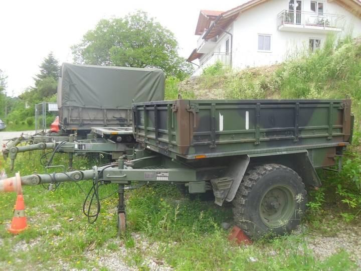 Kaessbohrer 1,5to Anhänger Pritsche  BW Unimog  Bundeswehr - 1985