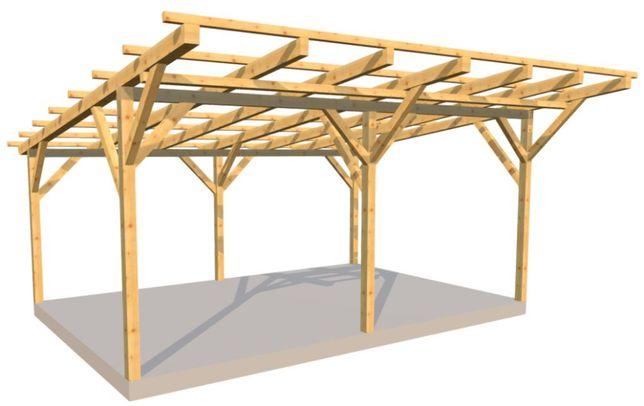 Projekt Wiaty Drewnianej Jednospadowej Pdf Q Housepl