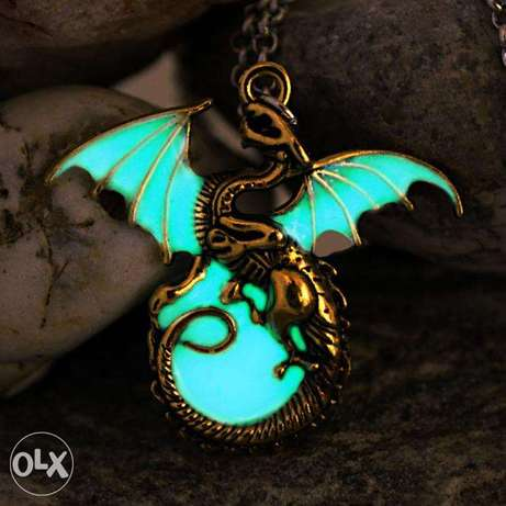 Game Of Thrones Luminous Dragon Chain Pendant Necklace Gothic Vintage Nairobi CBD - image 3