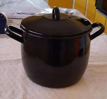 5 Litre, Deep, Black Soup Pot