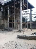 Uncompleted 4bedroom duplex with BQ in a serene area in woji