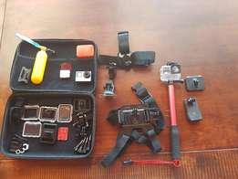 GoPro Hero 4 Silver plus extra mounts and accessories