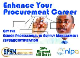 SPSM Certification for Procurement & Supply Chain Experts 20% Discount