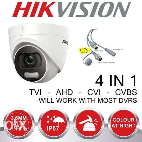 HD1080P Turbo 2 MP Full Time Color Turret Camera 3.6 MM Fixed lens DS-