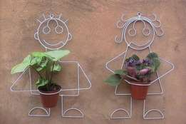 Pot plant wall stand