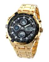 Brand New Quamer Men's Water Resistant LCD Wrist Watch