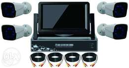 4 CCTV Cameras complete camera kit with screen