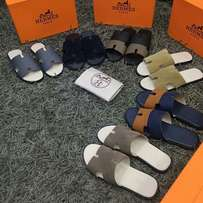 Hermes Matured Male Flat Palm Slippers