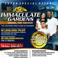 Immaculate Garden Estate Omagwa Port Harcourt For Sale