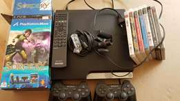 PS3 console, move, accessories & games