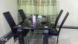 Dinning glass with 4 seater