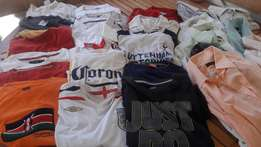 Large XXL shirts and shorts used. 24 shirts 4 shorts 2 jeans1 jacket