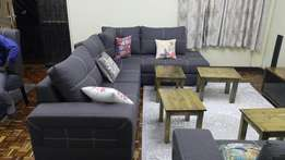 8 seater grey sectional sets