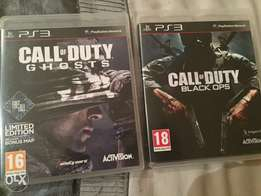 Call of duty black ops and call of duty ghosts for ps3
