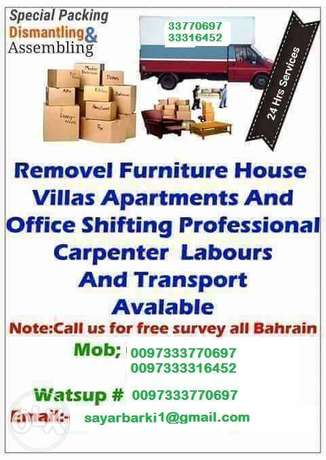Professional moving services of house, villas, office