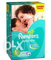 Pampers diaper and Pampers baby pants