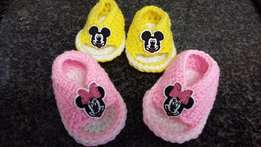 Mickey and Minnie Crochet baby sandals