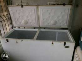 Fairly used and working well Deep freezer