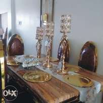 Gold and Brown dinning table