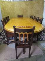 Solid wood Imbuia &Yellow wood table with 8 chairs