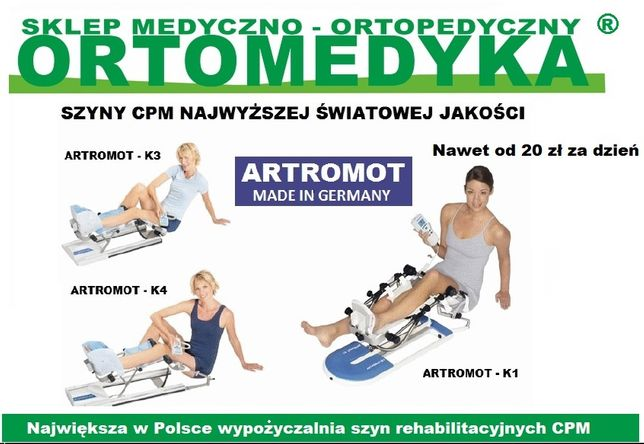 Wszystkie nowe Wypożyczalnia szyn CPM - ARTROMOT Częstochowa - Ortomedyka.pl SX84
