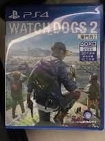 two weeks used Watch dogs 2 ps4 cd